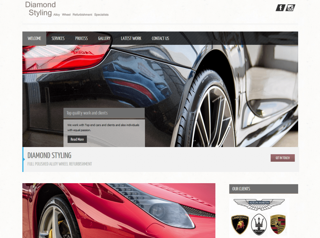 Diamond Styling – Website