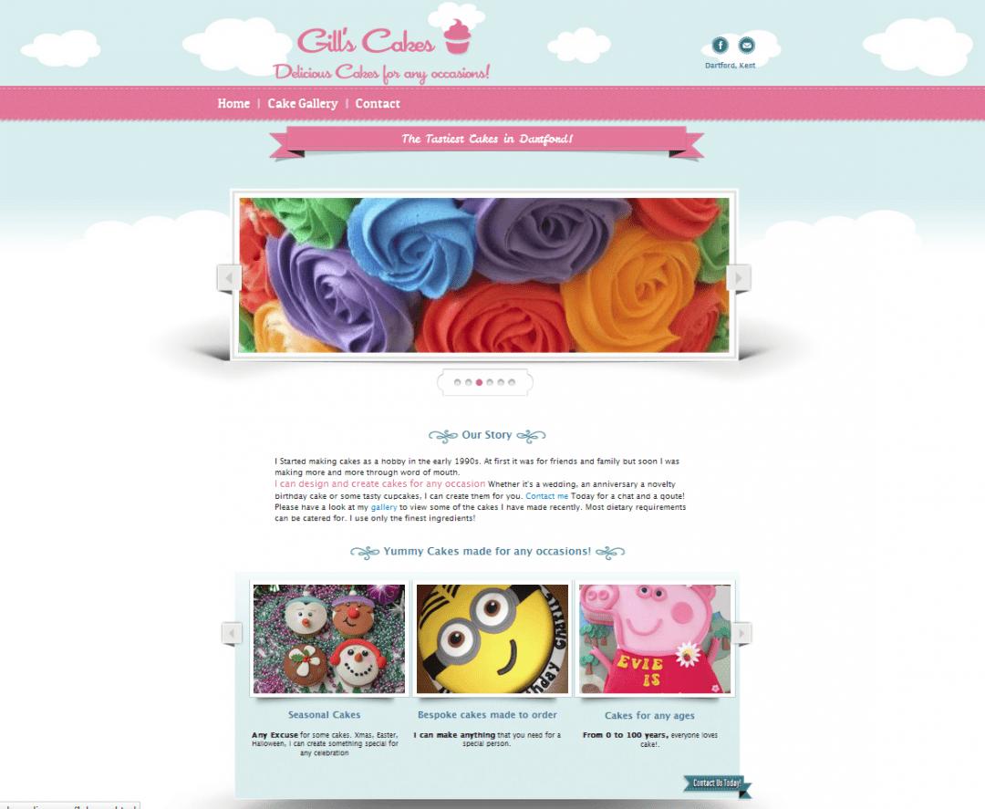 Gills Cakes website