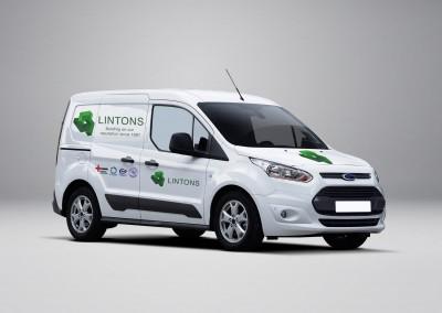 Linton Contractors Logo and Mock-ups